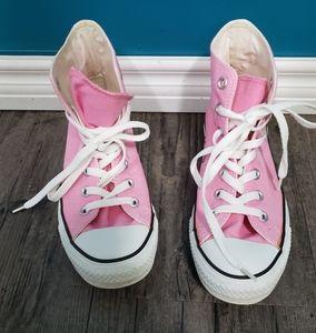 Converse Unisex pink lace up shoes